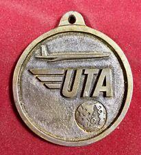 Compagnie aérienne UTA Rare Médaille ancienne Métal