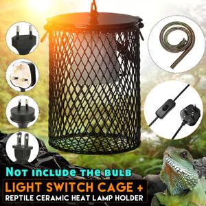 Reptile Ceramic Heat Lamp Light Bulb Cage Net Snake Pet Switch Brooder Holder
