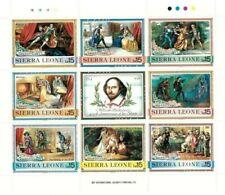 VINTAGE CLASSICS - Sierra Leone 1050 Shakespeare - Sheet Of 8 -MNH