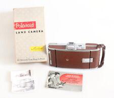 POLAROID 95A LAND CAMERA IN ORIG. BOX W MANUAL   2 VINTAGE PHOTOS