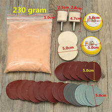 Glass Polishing Kit Windscreen Scratch Remover + 8oz Cerium Oxide and 2'' Wheel