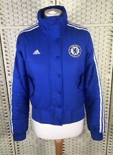 Adidas Chelsea Blue Puffer Bomber Sport Gym Jacket Coat Football Club Zip (S)