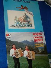 lot 2 LP michel & CLAUDE GENEY visa pour L'ACCORDEON akkordeon fisarmonica