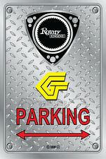 Metal Parking Sign  Rotary Mazda Style G#14 - Checkerplate Look