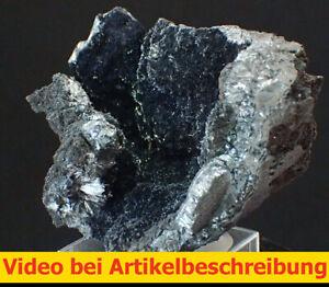 7008 Pyrolusite ca 4*6*4 cm Imini mine Morocco MOVIE