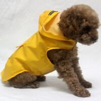 US Pet Dog Hooded Rain Reflective Coat Waterproof Rainwear Jacket Puppy Raincoat