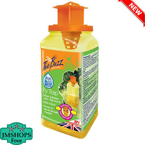 The Buzz Jaw Fly Trap Super Effective Fly Catcher Disposable Insect Attractant