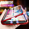 For iPhone 7 8 Plus X XR XS Max Magnetic Adsorption Double Side Glass Case Cover