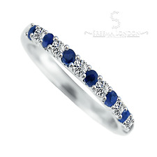 Princess Kylie Blue and Clear Pave Set Cubic Zirconia Ring Rhodium Plated Sterling Silver