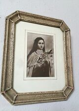 Antique 19c Lithograph Saint Thérèse of Lisieux In Amazing Original Wood Frame
