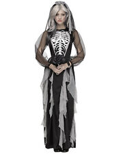 Skeleton Bride Adult Womens Corpse Bride Halloween Costume Gown