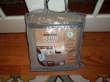 NIP Biddeford Micro Plush Taupe Queen Heated Blanket