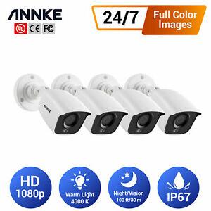 ANNKE Full Color Night Vision 4pcs HD 1080P CCTV Camera Home Surveillance Kit UK