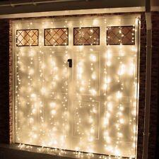 LED Curtain Lights Multi-Function Glow 6 Feet, White, 200 LED