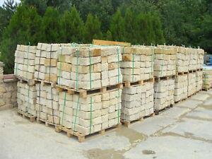 Gelbe Mauersteine Sandstein Gartensteine Sandsteinmauer