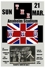 1970's British Rock: The Who at Anaheim Stadium Concert Poster 1975 12x18