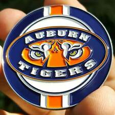 PREMIUM NCAA Auburn Tigers Poker Card Guard Chip Protector Golf Marker Coin NEW