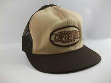 Cavendish Farms Patch Hat Vintage Brown Tan Snapback Trucker Cap