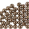 Acrylic ABS Pearl Beads Round - 10mm - Brown Pack of 50 (F96/2)