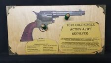 Gun Display Wall Rack for 1873 Colt Single Action Army Peacemaker Revolver 62