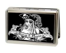 Captain Sexy Ink Girls Buckle Down Metal Business ID Credit Card Holder New Gift