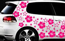 114x Auto Aufkleber Sterne Star Hibiskus Blumen go Schmetterlin HAWAII WANDTATTO