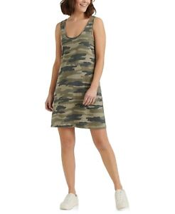 Lucky Brand Women's Camo-Print Tank Dress Size Medium