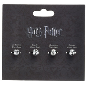 Slider Charm Set Harry Potter Official Set Of 4 Spells Bracelet Necklace Girls