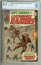 CAPTAIN SAVAGE #5 CBCS 8.5 WHITE PAGES // DICK AYERS/SYD SHORES COVER/ART