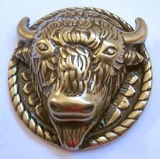 Concho Concha Büffel Bison Büffelkopf Western Indianer zum Schrauben antikfinish