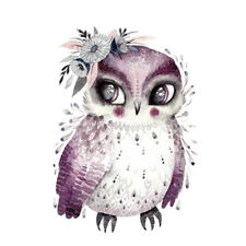 Owl Clothing Stickers DIY Patches Iron-on Transfers Appliques Accessory 17x24cm