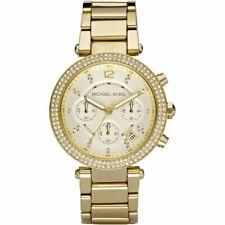 Michael Kors Parker Yellow Dial Stainless Steel Ladies Watch MK5354