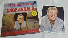 Eddy Arnold The Living Legend Hits LP Vinyl Record Autograph Card Vintage 1974