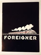 Foreigner-1978-Double Vision -Concert Program Tour Book