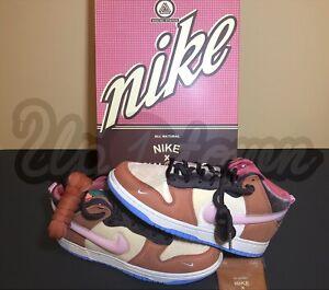 DS Brand New Nike Dunk Mid Social Status Chocolate Milk Size 7 DJ1173-700