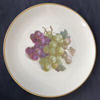 Eschenbach Baronet China Fruit Plate Grapes Bavaria Germany Gold Trim Vintage