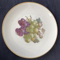 Eschenbach Baronet China Fruit Plate Grapes Bavaria Germany Gold Trim Vintage