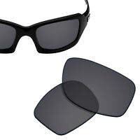 Polarized Replacement Lenses for-OAKLEY Fives Squared Sunglasses Solid Black