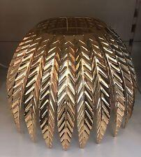 Courbé feuilles feuille en métal doré PENDENTIF abat-jour nouveau vintage style art déco