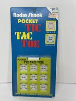 Vintage Radio Shack Pocket Tic Tac Toe Original Packaging Rare NEW Free Shipping
