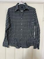 Gap Black White Shirt Size Large Womens Long Sleeve (K147)