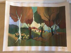 """Jamestown Cottage"" by Tarkay, lg print, has COA, unwanted raffle prize, free po"