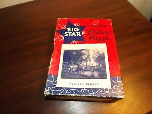 "Vintage Big Star Jig-Saw Picture Puzzle ""Land of Plenty"" 251 pieces All There"
