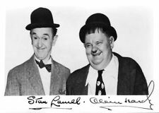 Laurel and Hardy Signed Autograph PRINT 6x4' 10x15cm Gift Present!