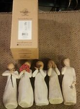 Lot of 5 Vintage 2000 to 2014 Willow Tree Figurines Surrounded by love sister +