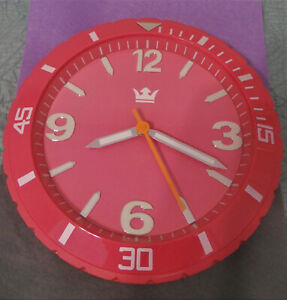 SEMPRE SCHMIDTMEISTER e. K. Germany Wall Clock in Watch Shape, Shocking PINK! NM