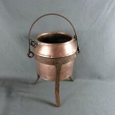 Antique French Copper Glue Pot Double Boiler For Cabinetmakers
