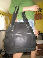 "Lucky Brand  ""Carnaby Street""  Black Leather Bowler Bag/Satchel  EUC   $189.00"