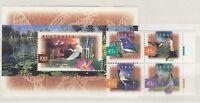 Australia 1997 Wetland Birds $10 Mini Sheet Plus Block MNH X9183