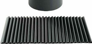 PVC Sichtschutzstreifen Doppelstabmatten 20 Stück Befestigungsclips Anthrazit